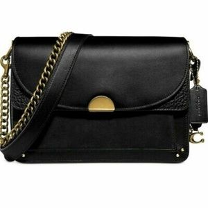 COACH dreamer mixed media black bag